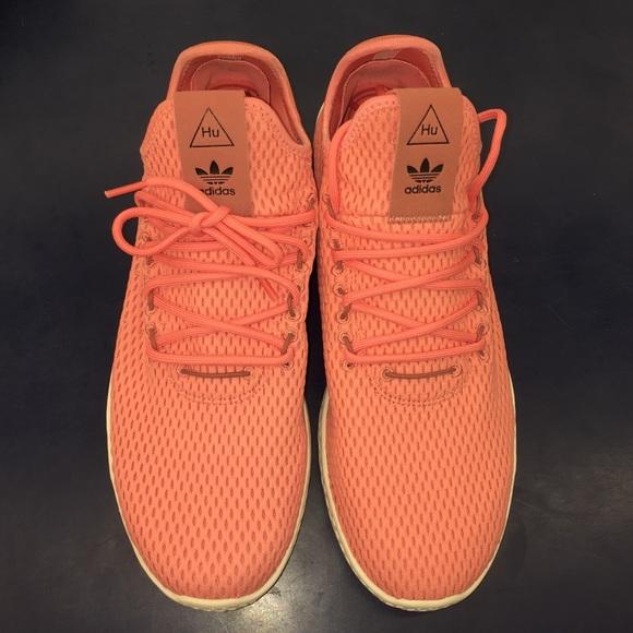 156f4e063f9be Adidas Pharrell Rose Pink white Tennis Mens Shoes